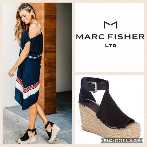5d5e95962d3 Marc Fisher Annie Perf Espadrille Platform Wedge